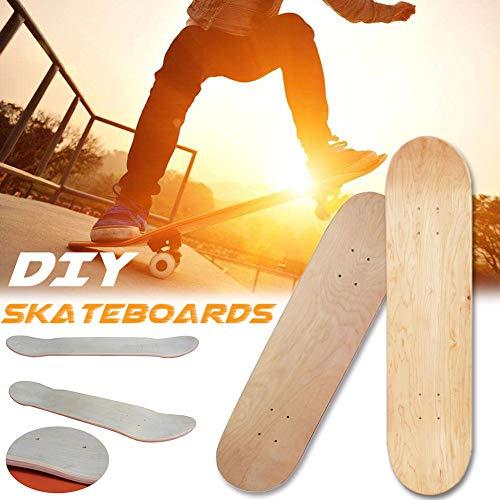 raspbery 8 Zoll 8 Schicht Skateboards Deck, Maple Blank Double Concave Skateboards Natürliche Skateboard Board Cruiser Holz Deck