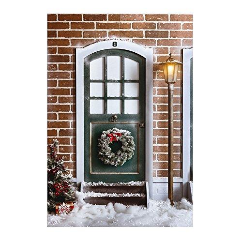 Dekoration Winter Weihnachten Photography Hintergrund Hintergrund Tür debackground Urlaub Fotografie Hintergrund xt-5441 (Urlaub Tür Dekorationen)