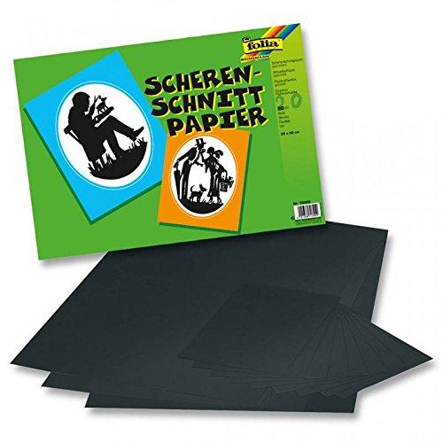 Scherenschnitt-Papier gummiert 35x50cm, 20 Blatt