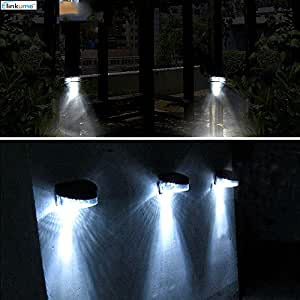 Elinkume Fence Solar Luci Wireless Impermeabile parete esterna del giardino Luci decorative per Giardini, Piscine, Tavoli, Case, Scale, Mura Esterne