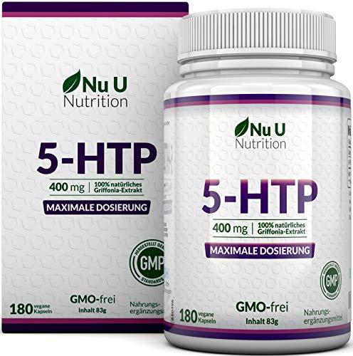 5 Htp Vitamin B (5-HTP 400mg maximal dosiertes Ergänzungsmittel | 180 5 HTP Kapseln - im 6 Monatsvorrat | hochdosiertes 5htp | vegane 5 htp Kapseln)