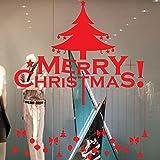 TEBAISE Sticker Weihnachtsdeko Weihnachtssticker Merry Christmas Schaufensterdekoration Wandaufkleber Fenster Weihnachten Fensterdeko Aufkleber Wandtattoo Aufkleber Dekoration (RD 3)