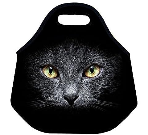 Selric [ chat noir ]Sac à Déjeuner Isotherme en Néoprène Housse Repas pour L