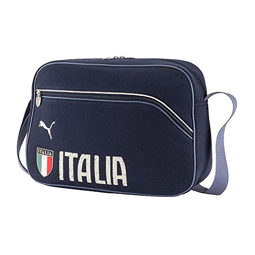 FIGC Shoulder Bag Pomegranate 14/16 Italy Puma indigo-birch-nightshadow blue