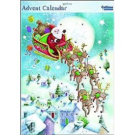 Calendario dell'Avvento di Santa Oh ho ho ho Babbo Natale, 245 x 350 mm, con busta
