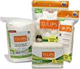 Tulips Combo Pack Of Cotton Balls,Buds, Pads & Cotton...