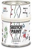MagPaint - Pintura para crear pizarra blanca (0,5 L), color blanco