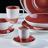 Villeroy & Boch Manufacture Rouge Mokka-/Espressotasse, 100 ml, Premium Porzellan, Rot
