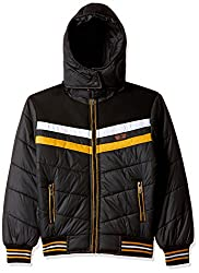 Fort Collins Boys Regular Fit Jacket (76125_Black_28 (8 - 9 years))
