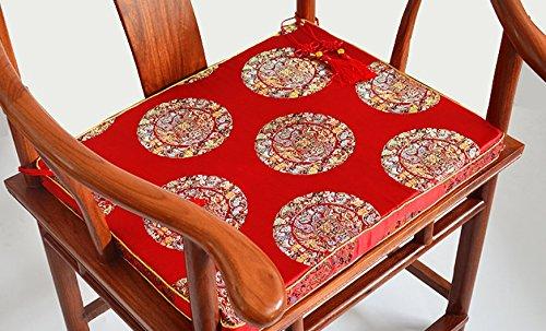 CLG-FLY in legno di rosa Cinese sedia poltrona divano cuscino cuscino sedia da pranzo ammortizzare il palazzo torna in legno massiccio sedia espanso cuscino sgabello,cuscino 30*30cm bambino pad,rosso fiori di melograno