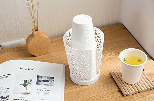 Auch 3Stück Einweg-Pappbecher Spender für Badezimmer, PAPER Cup Halter für Wohnzimmer Büro, weiß, Polypropylen, weiß, 9cmx11.5cmx14.5cm