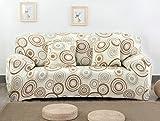 FORCHEER Sofabezug elastische Sofahusse Sesselbezug Stretchhusse Sofaüberwurf Couch Husse mit 4 verschienden Größe ( 2-Sitzer, 145-185cm, Farbe #21 )