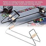 HEEPDD Telaio per Perline, Kit per Telaio per Gioielli in Metallo per Telaio per Braccialetti per Tessitura e Artigianato Fai-da-Te