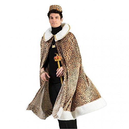Funny Fashion Afrikanischer König Kostüm für Afrika, Umhang Dschungelkönig, Afrikaner Dschungelkrieger Karneval ()