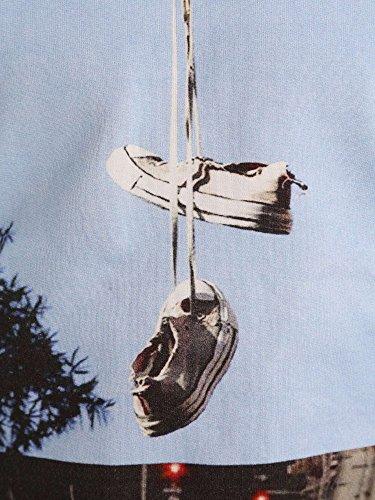 Converse 6FU436D Felpa Uomo Celeste