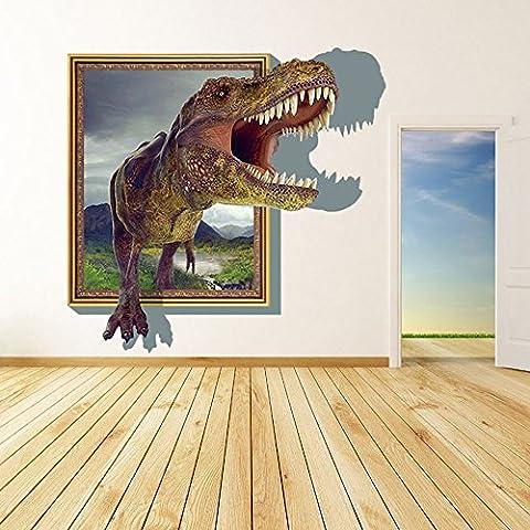 Asiv 3D DIY Rimovibile Cartoon Dinosauri Wall Stickers per Bambini Camera da Letto Casa Sfondo