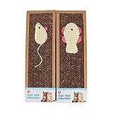 URIJK Katze Spielzeug Katze Kratzbrett Katzematte Kratzbaum Pet Scratch Sisal Pad Krallen Pad Katzenspielzeug mit Katzenminze Maus Fisch Muster Zufällig
