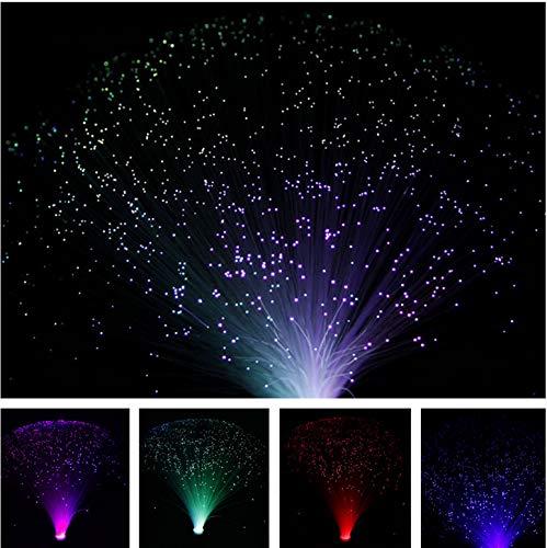 Multicolor USB LED Glasfaser Lampe Nachtlicht für Urlaub Hochzeit Herzstück Glasfaser LED Raumdekoration