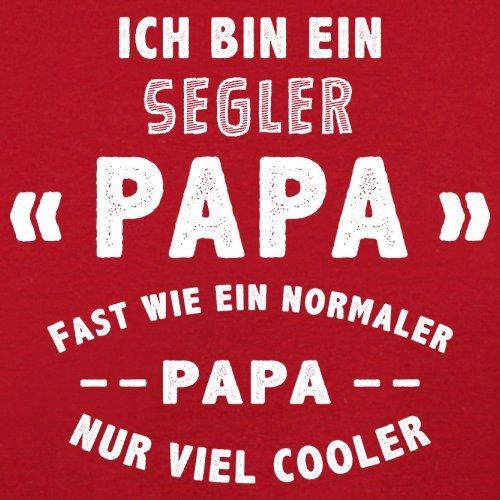 Ich bin ein Segler Papa - Herren T-Shirt - 13 Farben Rot