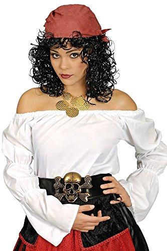 Mittelalter Bluse schulterfrei für Damen Gr. 36 (Piraten Weißen Shirt Erwachsenen Kostüme)