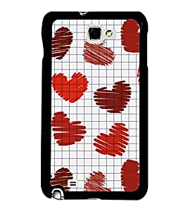 Printvisa Ultra Hearts 2D Hard Polycarbonate Designer Back Case Cover for Samsung Galaxy Note...