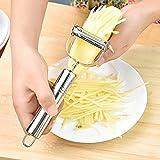 Lanker Peeler Slicer, Vegetable Fruit Shaver Cutter Doble Slice Acero Inoxidable Multifunción Accesorios de Cocina Herramientas de Cocina KT16