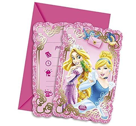 Carte D Invitation Anniversaire - Procos 82650–Invitations avec Enveloppes Disney Princess &