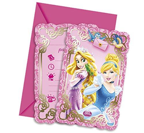 Ciao Procos 82650?Einladungskarten mit Umschlag Disney Princess & Animals, 6Stück, Pink Preisvergleich