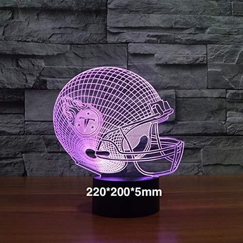 tball Team Helm 3D-Effekt Nachtlicht als Geschenk Hologramm visuelle dekorative Lichter Schreibtischlampe Schlafzimmer ()