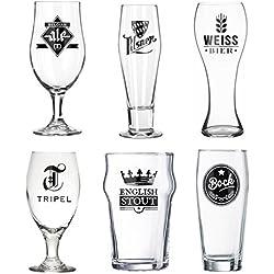 Set vasos cerveza l'Hédoniste vidrio