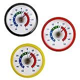 Thermometerwelt Thermometerset 3 Stück Kühlschrankthermometer . Kunststoff in Deutschland Farben schwarz , rot , gelb 4955