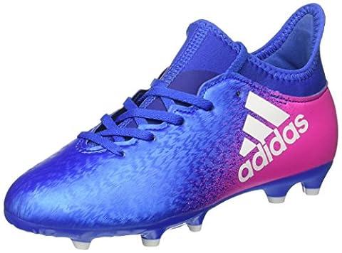 adidas Unisex-Kinder X 16.3 FG J Fußballschuhe, Blau (Blue/Ftw White/Shopin), 30 EU