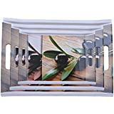 OSGTrendy Olive Leaf Sofia Serving Trays - Set Of 3: Sold By Gallery99