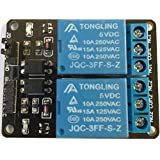 5V DC de 2Channel Low Level Trigger Power Relay Module jqc de 3FF de S de Z 250VAC, de 10a 15A de 125vac, rbtmkr