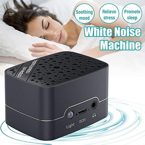 CWHALE White Noise Machine, Beruhigende Schlaftherapie Sound USB-Entspannungsmaschine mit 6 automatisch ausschaltbaren Naturgeräuschen für Baby-Leichtschläfer und Reisende -