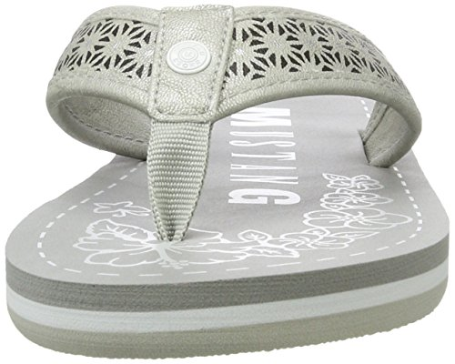 Mustang 1243-701-21, Sandales Bout Ouvert Femme Argent (21 Silber)