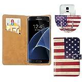Nano Flip Handy Smartphone 360 Grad Tasche Hülle Case Cover Für Xgody D11 - 360 L USA Flagge