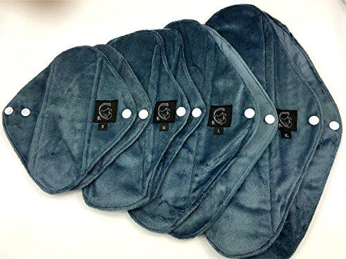 Confezioni Starter, confezione da 8, tinta unita, Panty Liner/Regular/pesante/notte/parto-Panno assorbenti