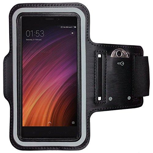 CoverKingz Xiaomi Redmi 4X Sportarmband Fitness-Hülle Schwarz Jogging-Case mit Schlüsselfach Handy-Lauf-Tasche Running-Case Handy-Tasche Sport Fitness-Armband