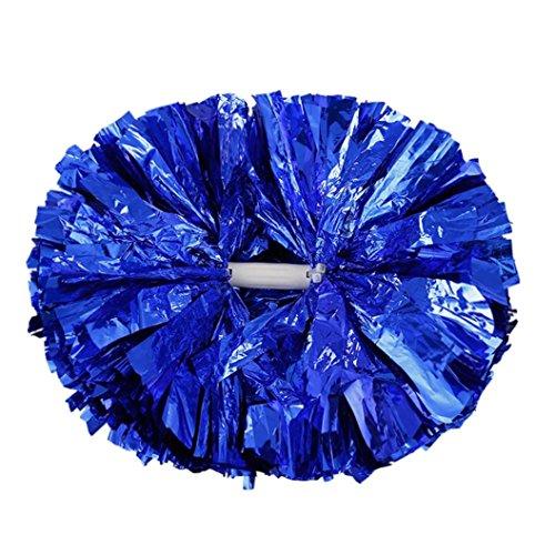 Cheerleaders Balls   Hunpta Handheld Pom Poms Cheerleader Cheerleading Cheer Dance Party Football Club Decor  Blue