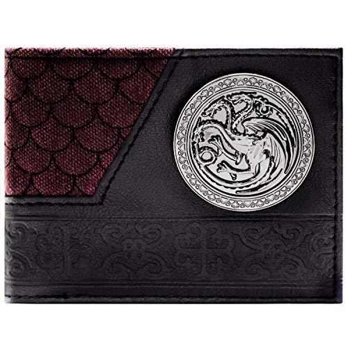 Game of Thrones Haus Targaryen Drachenschuppe Schwarz Portemonnaie Geldbörse (Kostüme Of Game Männer Thrones)