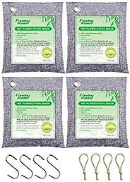 Bamboo Charcoal Air Purifying Bags, Fonday Odor Absorber Charcoal Bags, Odor Absorber for Home and Car (Pet Fr