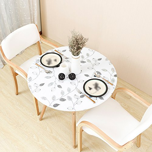 ANDEa Waterproof Tischdecke, PVC Runde Tischdecke weichen Tisch Matte kreative undurchsichtige Tisch Matte Tisch Schreibtisch Tischdecke Restaurant Cafe Tischdecke Durchmesser 80-135 cm Gemütlich ( Farbe : B , größe : 80cm ) Dekorative Schreibtisch-matte