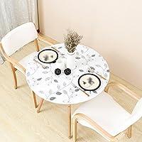 ZWL Mantel a prueba de agua, PVC mantel redondo suave estera de tabla creativa opaca mesa mantel escritorio mantel café mantel diámetro 80-135 cm , Agrega vitalidad a la cocina ( Color : B , Tamaño : 80cm )