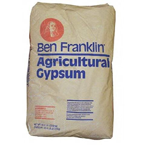 Agricultural British Gypsum Garden Soil Conditioner. 25kg bag. To break down heavy clay soils.