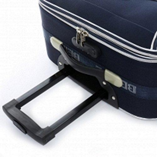 TOP-Angebot: 2 x Trolley-Koffer : Reisetrolley 76cm (110/125Liter) + Kabinentrolley 55 cm (45/50 Liter), - Dehnfalte - integr. Zahlenschloss - Farbe: Schwarz -