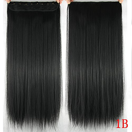 Homeoculture Straight Synthetic 24 inch Hair Extension With Free Puff Maker (Black)
