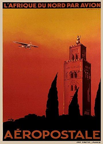 le-voyage-francais-millesime-aeropostale-lafrique-du-nord-par-avion-environ-1932-sur-format-a3-papie