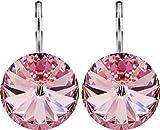 Petra Kupfer Damen Ohrringe Ohrhänger Rivoli 1 Swarovski®-Kristall Rosa Light Rose Versilbert hk14tb-light-rose