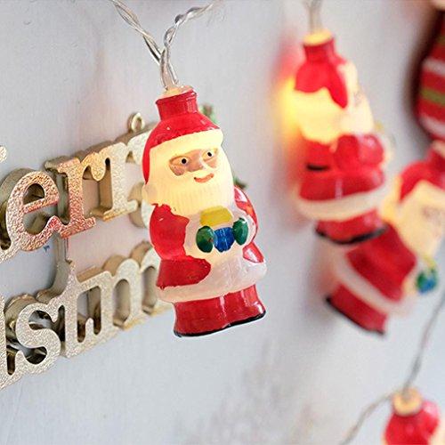 DOLDOA Weihnachten Batterie-Kasten Lichterkette für Haus, Hochzeit, Weihnachten, Erntedankfest (10er – Länge: 1.5M, Licht Farbe: gelb)
